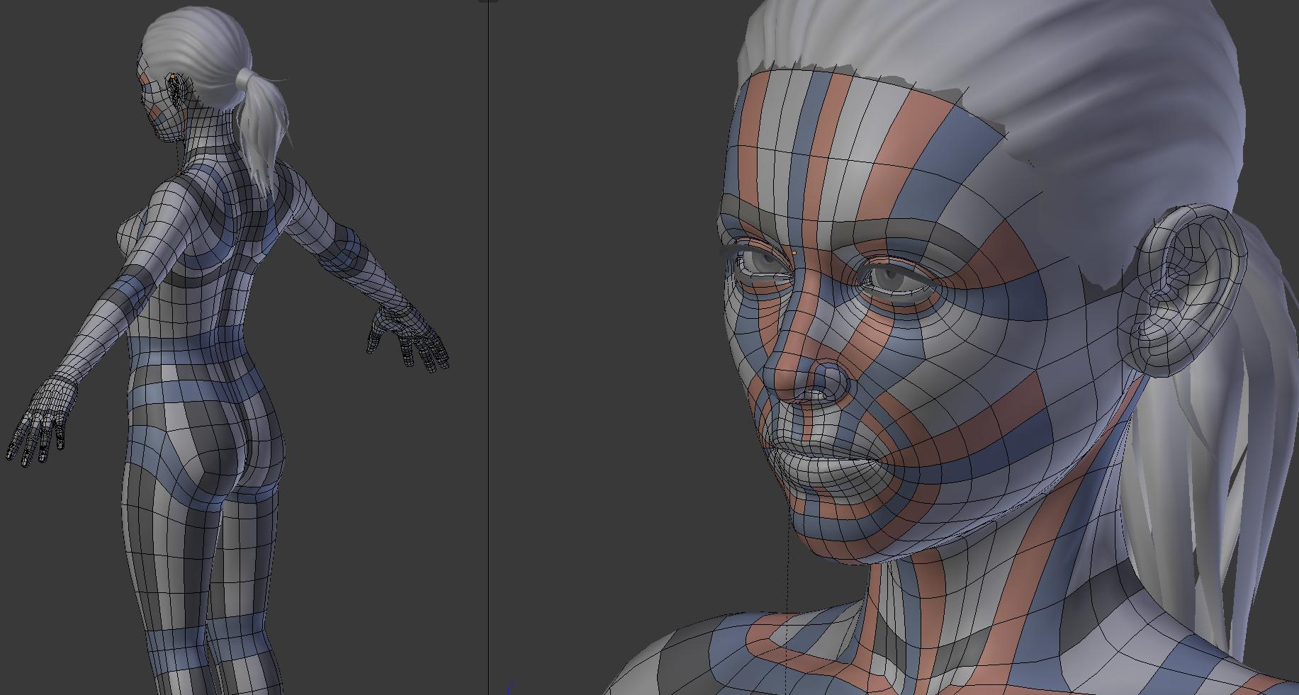 Blender Character Modeling 10 Of 10 : Call for review blender demoloop tears of steel